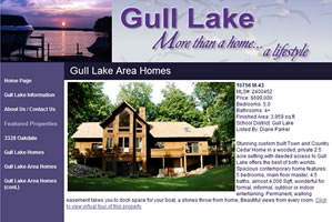 Click to visit Gull Lake, Michigan